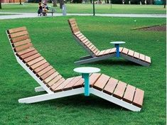 Steel and wood garden daybed RIVAGE SMART