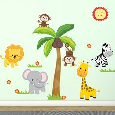 Decal the Walls Jungle Theme Fabric Wall Decal