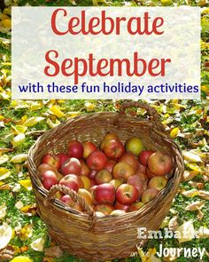 Though September has a couple of national holidays in it, there are some pretty unique everyday holidays, as well. Come celebrate September with these fun holiday activities. | embarkonthejourney.com