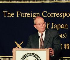 "Blair @fccjapan ""I don't see a real danger of conflict"" in this part of the world."