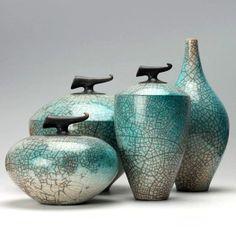 Azul Ceramic Boxes, Ceramic Jars, Coil Pots, Vases, Raku Pottery, Keramik Vase, Ceramic Techniques, Clay Design, Pottery Designs