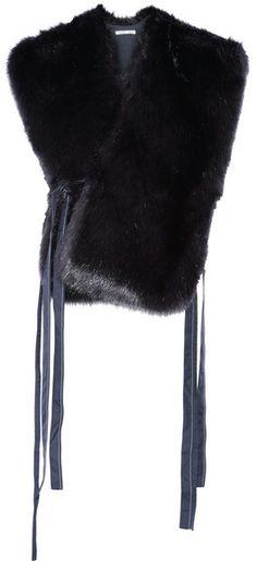 Helmut Lang - Faux Fur Vest - Navy