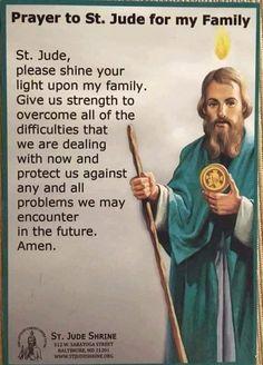 Prayer to St Jude Prayer Scriptures, Faith Prayer, God Prayer, Prayer Quotes, Bible Quotes, Bible Verses, Prayer Cards, Police Prayer, Novena Prayers