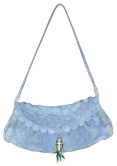 Small Suede Fish With Fish Charm Blue Clutch – Bagriculture