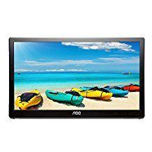 AOC i1659fwux 16-inch IPS Ultra Slim Full HD 1920x 1080, 220cd/m2, USB 3.0 powered portable LED monitor w/case