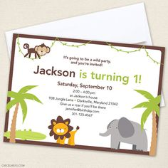 Jungle safari party - invitaciones