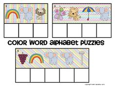 Alphabet Mystery Puzzles-Color Word Edition (freebie)