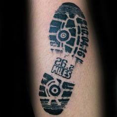 Running tattoo