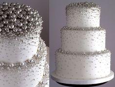 28 trendy wedding cakes with bling gold fondant Bling Cakes, Fancy Cakes, Cute Cakes, Pretty Cakes, 25th Wedding Anniversary, Silver Anniversary, 25 Anniversary Cake, Gold Fondant, Winter Torte