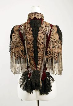 Jacket (image 3) | Lord & Taylor | American | 1883 | silk, glass beads, metallic thread |  Metropolitan Museum of Art | Accession Number: 1988.77