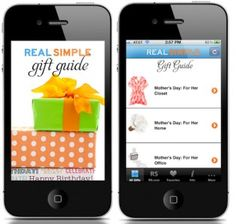 Real Simple magazine is making its first foray into mobile commerce with the launch of a gift guide app for iPhones Tuesday.