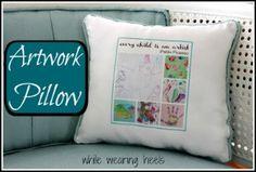 Turn Your Child's Artwork into a Keepsake Pillow by @mom2gracie on @BonbonBreak