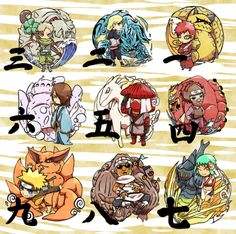 Tailed Beasts and their Jinchuuriki.