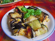 Auberginenröllchen mit Couscoussalat, ein beliebtes Rezept aus der Kategorie Snacks und kleine Gerichte. Bewertungen: 59. Durchschnitt: Ø 4,4.