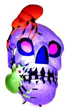 Inflatable Purple Glow Skull with Spiders Pre Lit Yard Decoration Gemmy http://www.amazon.com/dp/B00J8RFGZU/ref=cm_sw_r_pi_dp_wMElub1E9PY9M