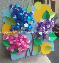 VK is the largest European social network with more than 100 million active users. Paper Flowers Diy, Flower Crafts, Diy Paper, Paper Art, Paper Crafts, Baby Crafts, Preschool Crafts, Diy And Crafts, Crafts For Kids