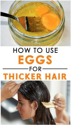 Eggs have always been a rich source of antioxidants, fatty acids and proteins necessary for hair growth and health. - Eggs have always been a rich source of antioxidants, fatty acids and proteins necessary for hair growth and health. Hair Mask For Growth, Hair Remedies For Growth, Home Remedies For Hair, Hair Growth Tips, Healthy Hair Remedies, Health Remedies, Remedies For Thick Hair, Hair Fall Remedy Home, Thinning Hair Remedies