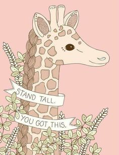 Gallery and contact information for Illustrator Emma Margaret. Giraffe Quotes, Giraffe Art, Cute Giraffe, Elephant, Fun Facts About Giraffes, Giraffe Pictures, My Spirit Animal, Stand Tall, Illustrations
