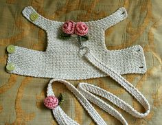 Dog harness with Matching Leash Pet clothing, Dog Harness Dog vest Crochet Dog Harness Dog Vest Small Dog Harness Harness with Lesh BubaDog This dog harness has two beautiful handmade roses on its back . The dog harness is made out of Cream cotton fabric. Crochet Dog Clothes, Crochet Dog Sweater, Pet Clothes, Knit Crochet, Dog Clothing, Crochet Gifts, Animal Clothes, Free Crochet, Dog Vest