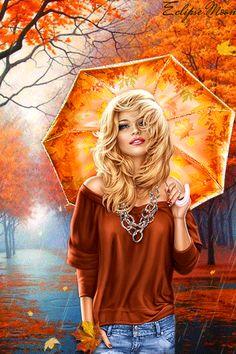 a-garota-de-capa-vermelha: Autumn rain