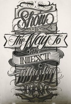 Show me the way - Hand Drawn Type