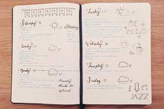 Bullet Journal Week and dailies