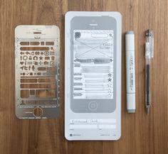 UI Stencils—iPhone Sticky Pad