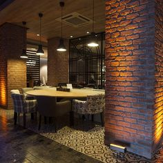 Memphis Red brick veneer for a restaurant refurbishment