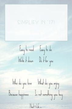 Simplify in '17 | Le