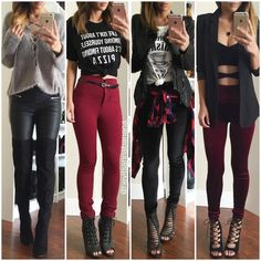 Image de Outfit, Mode und Stil Image de outfit, fashion, and style Teenage Outfits, Teen Fashion Outfits, Edgy Outfits, Mode Outfits, Cute Casual Outfits, Cute Fashion, Winter Outfits, Style Fashion, Fashion Trends
