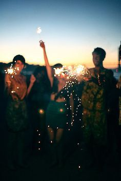 sparklers and fireworks, crazy summer nights where you feel alive.