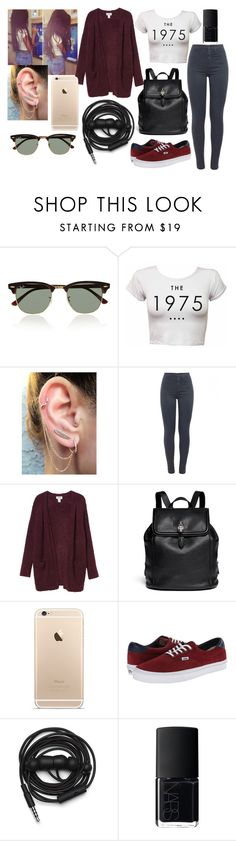 """""""Untitled #444"""" by feel-my-freedom ❤ liked on Polyvore featuring Ray-Ban, J Brand, Monki, Alexander McQueen, Vans, Urbanears and NARS Cosmetics"""