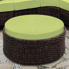 Detail Round Ottoman Outdoor – Ottoman On Pin Outdoor Stools, Outdoor Pouf, Outdoor Decor, Rattan Furniture, Outdoor Furniture, Large Round Ottoman, Ottoman Decor, Club Chairs, Teak
