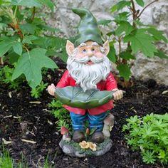 Francis Garden Gnome Bird Feeder - Garden Statues at Hayneedle