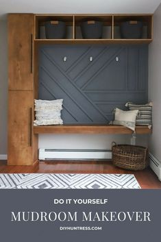 Lake House Family Room, Compound House, Mud Room Garage, Laundry Room Remodel, Garage Interior, Office Makeover, New Home Designs, Home Decor Inspiration, Mudroom