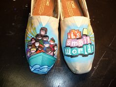 Custom Hand Painted Shoes - It's a Small World