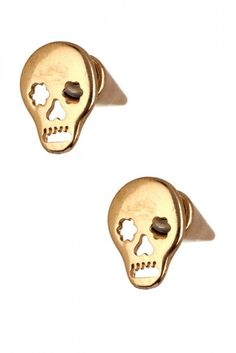 Skull Cone Stud Earrings