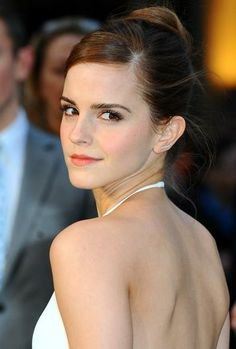 emma watson looking fab with a sophisticated bun