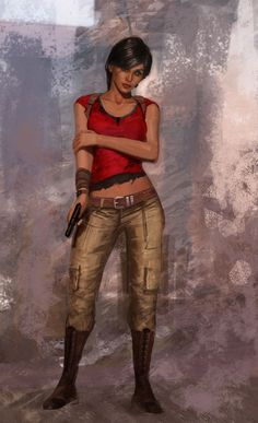 Chloe Frazer Concept Art - Uncharted 2 : Among Thieves (PS3)