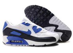 UK Market - Nike Air Max 90 Mens Deep Blue Black White Trainers