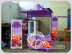 Desain Logo | Logo Kuliner |  Desain Gerobak | Jasa Desain dan Produksi Gerobak | Branding: Produksi Gerobak Rains Sosis