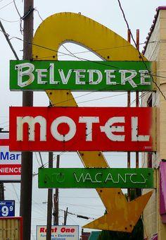 Cairo, IL Belvedere Motel by army.arch, via Flickr #logo #ideas