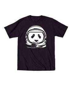 Love this Black Astronaut Panda Tee - Toddler & Kids by KidTeeZ on #zulily! #zulilyfinds