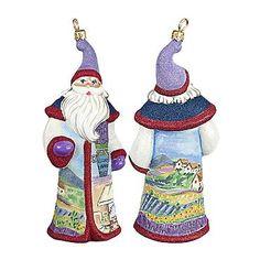 Glitterazzi International Provence Santa Ornament