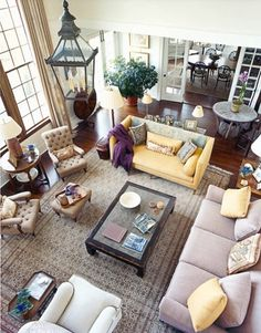 I am in love with the mismatched furniture and colors!
