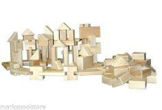 BEKA LITTLE BUILDER 100 PIECE HARD MAPLE WOOD BLOCK SET CREATIVE PLAY TOYS