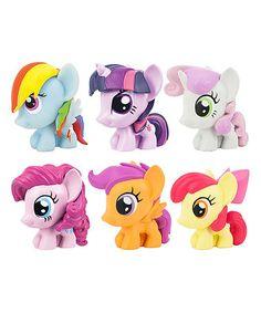 Loving this My Little Pony Six-Piece Fash'Ems Toy Set on #zulily! #zulilyfinds