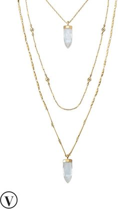 Such a beautiful layered Aria Pendant Necklace on ShopStyle.