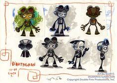 http://doublefine.tumblr.com/post/49946813397/dartagnan-to-razputin-concept-art