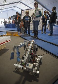 Students from Central Florida high schools participating in the FIRST® program brought their FTC robots and allowed guests to take the controls